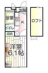神奈川県川崎市高津区末長の賃貸アパートの間取り