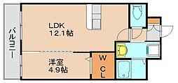 シャルマン土井II[6階]の間取り