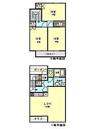 [テラスハウス] 静岡県三島市徳倉 の賃貸【/】の間取り