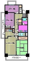 川口本町パーク・ホームズ[602号室]の間取り