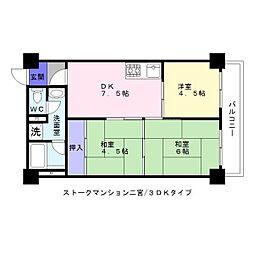 ストークマンション二宮[1階]の間取り