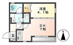 愛知県名古屋市中村区中村本町1丁目の賃貸マンションの間取り