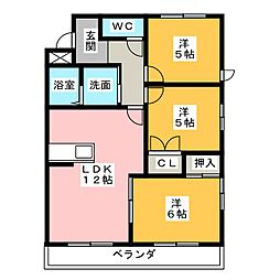 エスト味美 北館[2階]の間取り