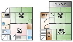 [一戸建] 兵庫県西宮市瓦林町 の賃貸【兵庫県 / 西宮市】の間取り