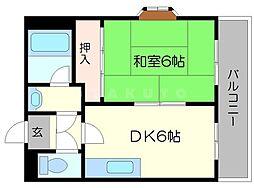 平ハツマンション[3階]の間取り