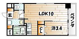 LE GRAND BLEU DEUX(グランブルードゥ)[4階]の間取り