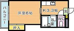 シャトレ菅原II[2階]の間取り