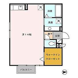 富山県富山市石金2丁目の賃貸アパートの間取り