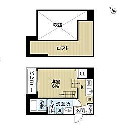 ラフォート那珂[2階]の間取り