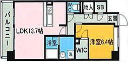 博多プレイス[11階]の間取り