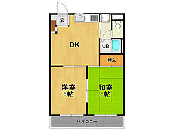 KIマンション[1階]の間取り