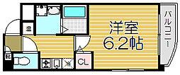 大阪府大阪市此花区西九条5丁目の賃貸マンションの間取り
