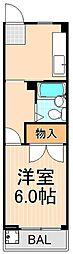 柴崎ハイツ[203号室]の間取り