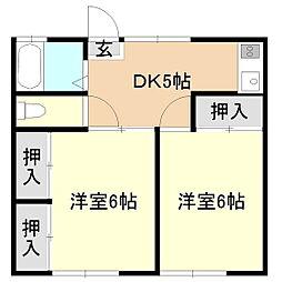 オノフクアパート[1階]の間取り