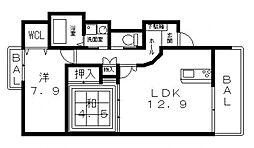 Forest南植松(フォレスト)[302号室号室]の間取り