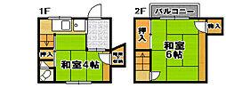 [一戸建] 大阪府大阪市此花区高見2丁目 の賃貸【大阪府 / 大阪市此花区】の間取り