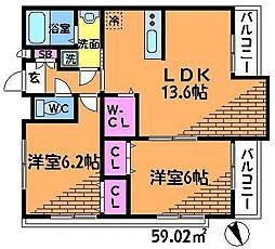 Forest深大寺[1階]の間取り