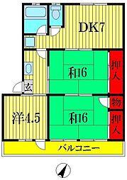 塚田ハイツ[2階]の間取り
