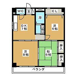 WALD HEIM[2階]の間取り