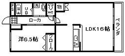 ヴァリー弐番館[2階]の間取り