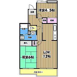コーポレート小金井梶野町通り6号棟[2階]の間取り