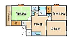 兵庫県神戸市須磨区東落合3丁目の賃貸マンションの間取り