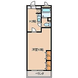 フジマンション[112号室]の間取り