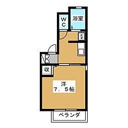 カーサみずほ[1階]の間取り
