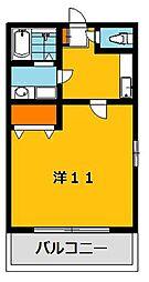 ブルーハイツ3[102号室]の間取り