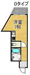 住之江1番館 3階ワンルームの間取り