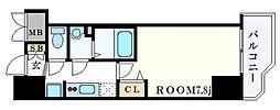 JR東海道・山陽本線 神戸駅 徒歩4分の賃貸マンション 12階1Kの間取り