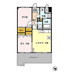 フォルスト平尾[6階]の間取り