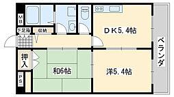 ルーチェ 1階2DKの間取り