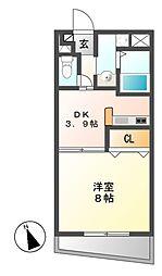 小川の荘[4階]の間取り