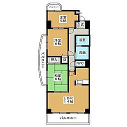 フレンドビル21[5階]の間取り
