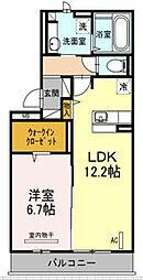 D-room空港西[3階]の間取り