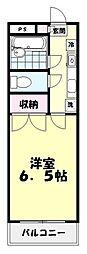 埼玉県和光市広沢の賃貸マンションの間取り