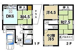 [一戸建] 奈良県奈良市東九条町 の賃貸【/】の間取り
