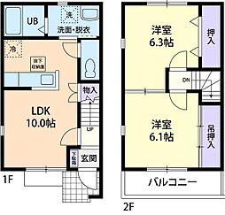 シンフォニー B[2階]の間取り