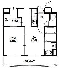 キャニスコート[4階]の間取り