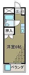 コーポラスヤマテ[3階]の間取り