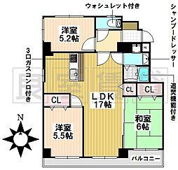 愛知県名古屋市瑞穂区堀田通8丁目の賃貸マンションの間取り