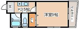 兵庫県神戸市長田区大塚町4丁目の賃貸マンションの間取り