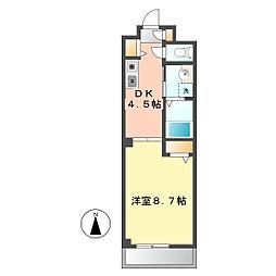 愛知県北名古屋市沖村西ノ郷の賃貸アパートの間取り