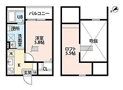 Endor鳴海[2階]の間取り