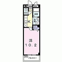 ノイブルーメ桂川[2階]の間取り