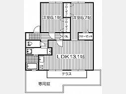 コンフォール観晴丘II[1階]の間取り