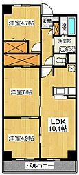 プリムヴェール渋谷[202号室号室]の間取り