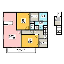 グラニュータウン D棟[2階]の間取り