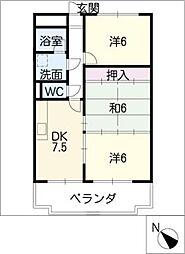 マンションエスポア21[2階]の間取り